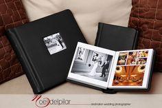 Renaissance Albums - 10x10 Fine Art Album | 2 Duplicate 6x6 Fine Art Albums | Tribeca Leather - Black Cover | One Image Opening (OP1) | 25 Pages | Source: Noel Del Pilar (www.noeldelpilar.net)