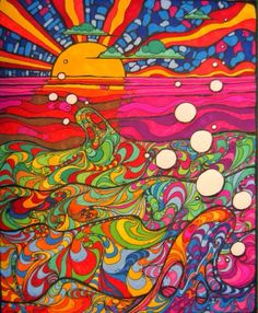 Let's watch the sunset :) #trippy #psychedelic #artwork #art