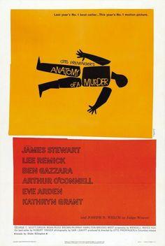 """""""Anatomía de un asesinato"""" - Saul Bass, 1959 #SaulBass #poster #cartel"""