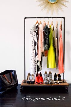 DIY garment rack - sarah sherman samuel's Story on STELLER #steller