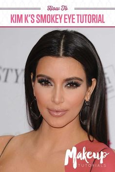 How To Look Like Kim Kardashian | Step by Step Contouring and Smokey Eye Makeup Tutorial at http://makeuptutorials.com/kim-kardashian-makeup/