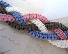 Braided Macrame Bracelets - Beading Daily .. so pretty