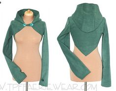 Plain Fleece 'Korrigan' Shrug Concise pixie by tpffaeriewear