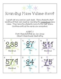 Rounding Place Value Scoot is a great whole group activity that gets your students up and moving. Students will be working on rounding hundreds an. Math Place Value, Place Values, Math Stations, Math Centers, Guided Math, Math 5, Math Round, Daily 3 Math, Math Classroom