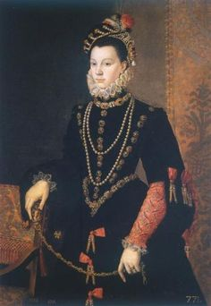 Isabel de Valois was the daughter of King Henri II of France and Catharine of Medic