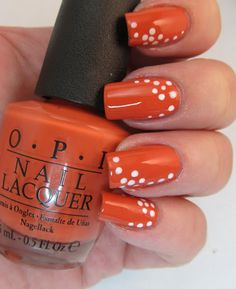easy dotted flowers with accent dots nail art design using dotting tool