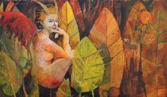 Miguel Curani. Artista plástico: Fauno & Cia.oleo s/tela80x120cm