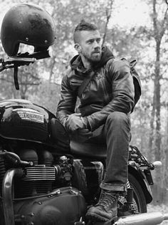 biker with his triumph #motorcycle #motorbike