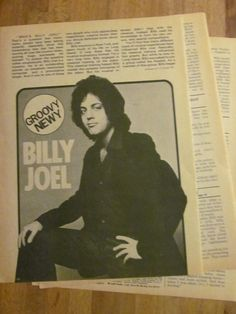 Billy Joel, Three Page Vintage Clipping 1970s Music, Billy Joel, Vintage Clip, Musicians, Music Artists, Composers