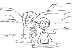 Coloring Page Children With Jesus Printable Sheet