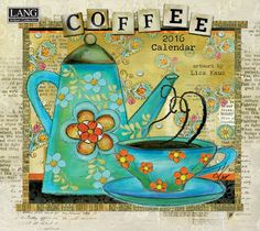 Lang Coffee 2016 Wall Calendar by Lisa Kaus, January 2016 to December 2016, 13.375 x 24 Inches (1001853)