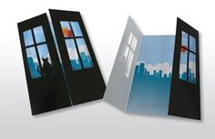 On Sale  Set of 5 Unique Greeting Cards 3D Cut Out by LooveMyArt