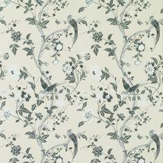 Summer Palace Charcoal Floral Wallpaper at Laura Ashley