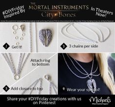DIYFriday inspired by The Mortal Instruments City of Bones - in theaters now! @The Mortal Instruments Movie