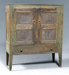 Southern green painted pie safe