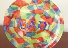 father's day paper plate wreath