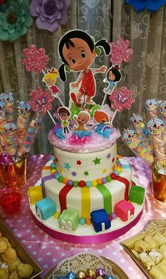 Cake Cleo Y Cuquin – Cake Decororations 3rd Birthday Parties, 4th Birthday, Birthday Cake, Ideas Para Fiestas, Daughter Birthday, Birthday Images, Cupcake Cakes, Balloons, Birthdays