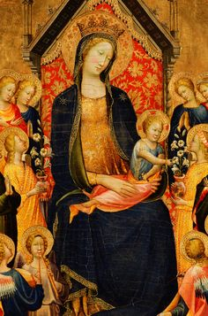 Gherardo Starnina. Madonna and Child with Musical Angels, 1410.