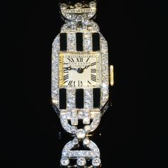 The Art Deco period (1920-1935) was a time of advancement in the arts, culture, and society. Antique watches and vintage watches are among some of collector's most prized items from this historical period...