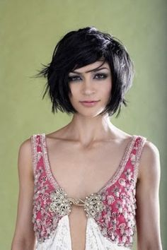 Gorgeous messy bob with side swept fringe
