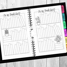 Bullet Journal Reading Printable set Dot & Grid undated | Etsy #bulletjournal Bullet Journal Notebook, Bullet Journal Spread, Bullet Journal Layout, Bullet Journal Ideas Pages, Bullet Journal Inspiration, Book Journal, Bullet Journal Reading Log, Bullet Journals, Bullet Journal Lined Paper