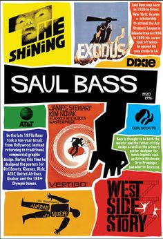This poster is a dedication to Saul Bass. He was a graphic designer born in Bronx, New York in From a young age his artistic abilities. Saul Bass Posters, Film Posters, Typography Prints, Typography Design, Pop Art, Art Design, Media Design, Illustrations, Graphic Design Illustration