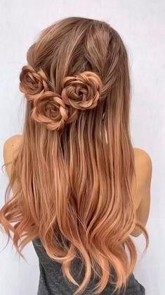Braided Hairstyles Tutorials, Easy Hairstyles For Long Hair, Up Hairstyles, Pretty Hairstyles, Rose Hairstyle, Simple Braided Hairstyles, Simple Braids, Office Hairstyles, Cute Simple Hairstyles