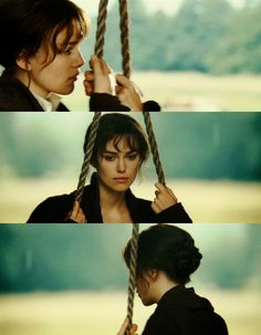 Solitary and pensive. So much to think about... Keira Knightley, Elizabeth Bennet - Pride & Prejudice (2005)