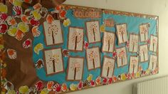 Fall board with handprints as leaves :-)
