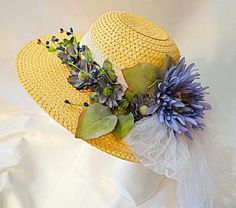 SUMMER HAT SALE 20 Periwinkle Vine Kentucky by Marcellefinery, $38.00