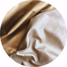 Champagne Metallic Foil Lamb Nappa Leather | East Coast Leather, Australia