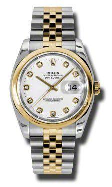 Rolex - Datejust 36mm - Steel and Gold Yellow Gold - Domed Bezel - Jubilee #116203WDJ