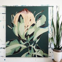 Buy online a limited edition canvas print of an original Anya Brock painting. Comes with a signed and numbered Certificate of Authenticity. A great alternative