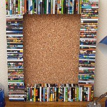 Recycled Magazine Cork Board1 7 Ways to Craft with Magazines