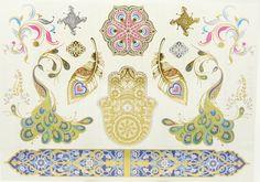 Metallic Tattoo, Gold Tattoo, Temporary Body Art - Sale Arabic/moroccan style