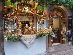 Traveling on a Budget with Debbie: A Day in Riquewihr - It's a German pretzel shop!