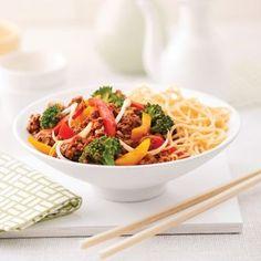 Boeuf haché à la chinoise - Soupers de semaine - Recettes 5-15 - Recettes express 5/15 - Pratico Pratique