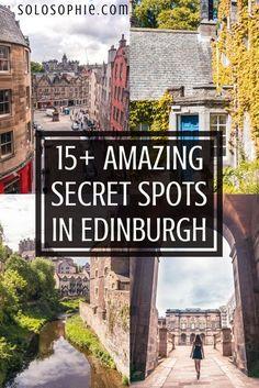 Secret spots in Edinburgh. Hidden gems, alternative attractions, offbeat locations and unusual things to do in the Scottish Capital. 15+ offbeat Edinburgh, Scotland