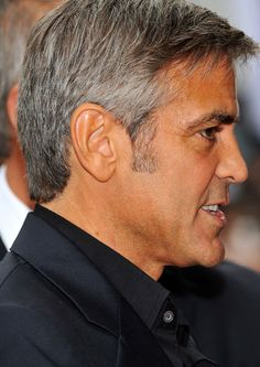 George Clooney George Clooney Hair, Men's Hairstyles, It's Raining, Getting Old, Hot Guys, Hair Beauty, Handsome, Outfit, Hair Styles