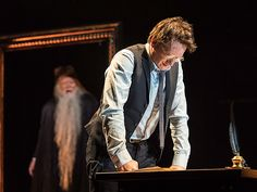 'Harry Potter and the Cursed Child': 22 Magical Photos | Harry tries to solve a problem, as Dumbledore's portrait offers some advice | EW.com