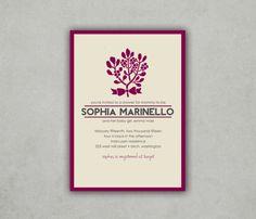 Striped Wedding Invitation & RSVP van DesignByJessBrianne op Etsy