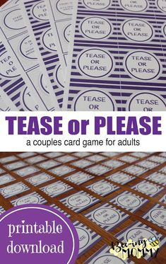 relationship games Tease or Please a couples card game for adults with a free printable Valentines Games For Couples, Games For Married Couples, Couples Game Night, Board Games For Couples, Date Night Games, Online Games For Couples, Marriage Games, Relationship Games, Dating Games
