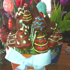 Chocolate covered strawberry easter basket. Eat you heart out edible arrangements