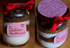 Muffin in a jar Valentines Day, Pudding, Cupcakes, Jar, Desserts, Christmas, Gifts, Food, Ideas