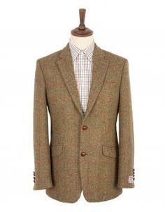 Santinelli Harris Tweed Sports Jacket - Green Check
