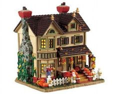 Description Lemax Harvest Crossing Fall Comes Home Item Approx. size: ( H x W x D ) x x inches x x cm Porcelain lighted building With cord feet) with O Christmas Village Collections, Christmas Village Houses, Halloween Village, Halloween Displays, Christmas Villages, Halloween House, Shabby Chic Christmas, Victorian Christmas, Vintage Christmas Ornaments