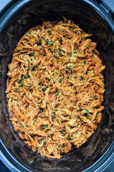 Slow Cooker Shredded Mexican Chicken - Slow Cooker Shredded Mexican Chicken is perfect for tacos, burritos, quesadillas, enchiladas, taco - Mexican Chicken Tacos, Slow Cooker Mexican Chicken, Slow Cooker Shredded Chicken, Mexican Shredded Chicken, Chicken Cooker, Recipes With Shredded Chicken, Taco Bell Shredded Chicken Burrito Recipe, Crockpot Mexican Chicken Recipes, Mexican Chicken Spaghetti