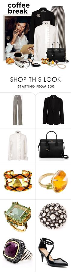 """""""Take a little coffee brake!!!"""" by dgia ❤ liked on Polyvore featuring Etro, Vince Camuto, Burberry, Kate Spade, Forest of Chintz, Katheley's, David Yurman and Apt. 9"""