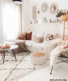 Boho Living Room, Living Room Interior, Living Room Decor, Living Room Sets, Bedroom Decor, Salon Boho Chic, Bohemian Chic Decor, Pink Home Decor, Home Design Decor