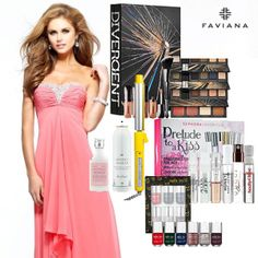 Enter to win the Ultimate Prom Package Giveaway. We are giving away your CHOICE of prom dresses from Faviana along with makeup, perfume, curling iron and hair products, and  a nail polish kit.
